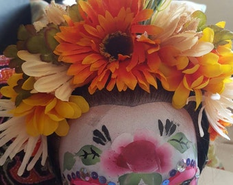 Dia de Los Muertos Head Band Frida Kahlo Inspired