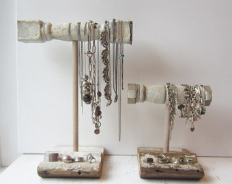 Your Choice - Chippy Shabby Chic Bracelet Holder or Necklace Holder - Architectural Salvage - Jewelry Storage - Quantities - Ready to Ship