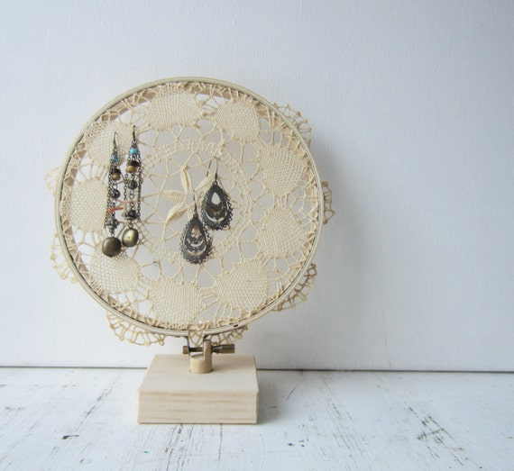 Displayed In This Embroidery Hoop Is A Fantastic: Handmade Wood Base / Stand / Display For Embroidery Hoop
