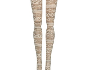 """17"""" Monster High Doll Stockings - Ecru Lace - Doll Clothes"""