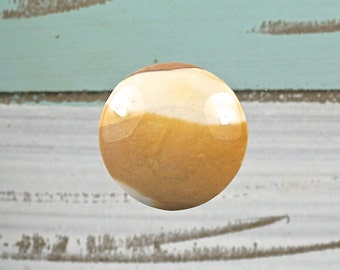 Brecciated Mookaite (Australian Jasper) Handmade Round Designer cabochon Dia.30mm