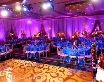 LED Uplighting Wedding Reception Lights Rent