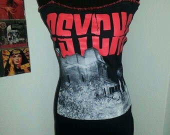 PSYCHO horror movie tshirt mini dress available in xs s m or large