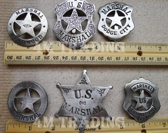 Old West Badges  The MarshalCollection