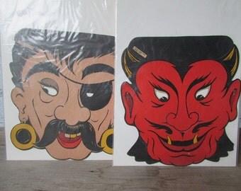 ONE Halloween Mask Vintage Pirate Mask or Devil Mask
