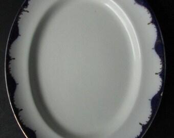 Flow Blue Platter Wood and Sons Shola China Burslem England