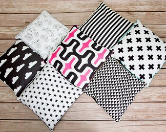 B&W scandi style pillow cover, cushion cover, differents patterns