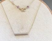 Gold Tube Necklace-Large