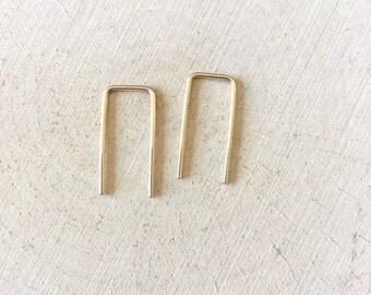 Minimalist Staple Earrings