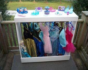 dress up station as seen on pinterest dress up storage. Black Bedroom Furniture Sets. Home Design Ideas
