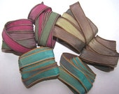 Sassy Silks Hand Painted/Dyed Ribbons  6 For the Price of 5  Lot 101-270
