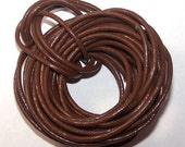 Genuine  Leather Cord /Saddle Brown 2mm / 5 meters/  Boho Bracelets/ Leather Wraps/ Necklace Cord, Bracelet Cord