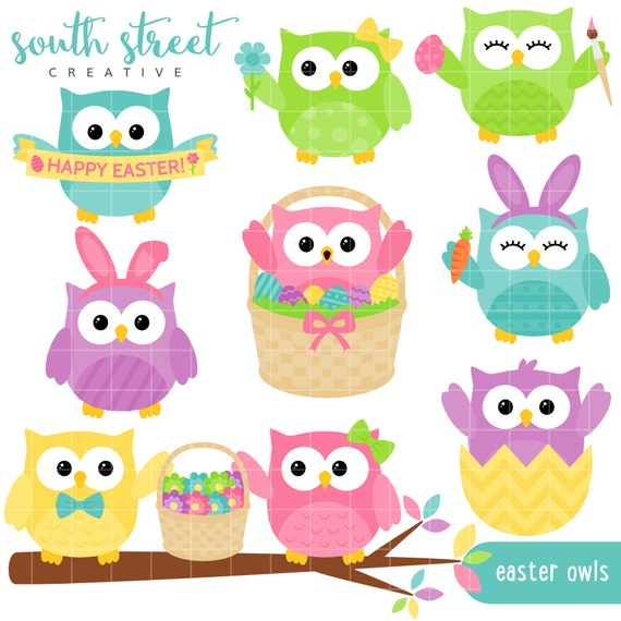free easter owl clip art - photo #17