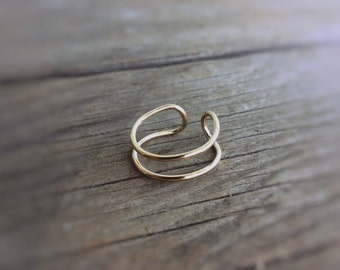 Open Ring, Minimalist Ring, Modern Ring, Double Line Ring, Simple Ring, Boho Ring, Statement Ring, Boho Chic, Open Loop Ring, Unique, U Ring