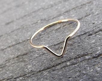 Chevron Ring,Gold Chevron Ring,Simple Traingle Band,Boho Ring,Minimalist Everyday Jewelry,Simple,Gift,Modern Ring,Geometric Ring,Chevron