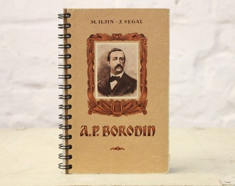 """Recycled Book Notebook Tartuensis College """"Borodin"""" Russian Journal"""