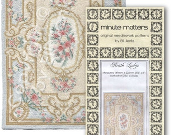 Dollhouse Carpet Pattern For Needlepoint or Cross Stitch - Heath Lodge by Elli Jenks