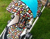 city select stroller /pram canopy cover-  1 reversible canopy slip covers