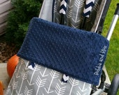 Stroller /pram blanket with foot muff- baby blanket