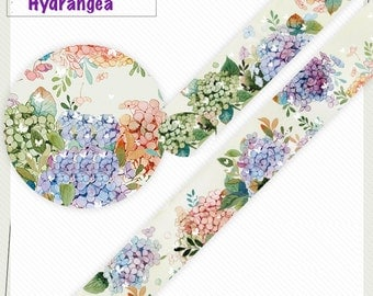 1 Roll of Limited Edition Washi Tape: Hydrangea Blossom