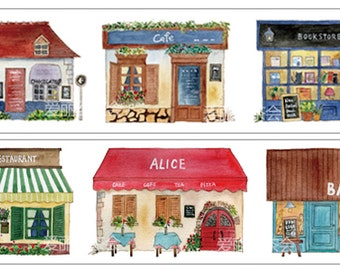1 Roll Limited Edition Washi Tape: Little Shops in Paris