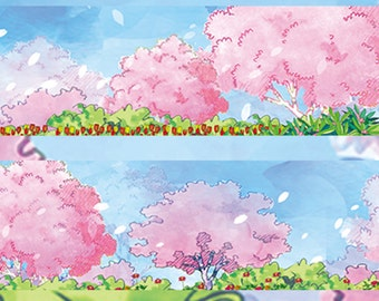 1 Roll of Limited Edition Washi Tape: The Story Of Sakura Blossom