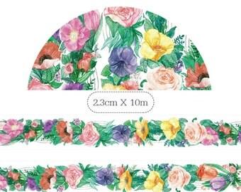 1 Roll Limited Edition Washi Tape: Flower Garden
