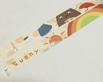 1 Roll of Limited Edition Washi Tape- Sunny Girl Day with Totoro
