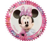 50 Disney Minnie Mouse Cupcake Liners/Cups