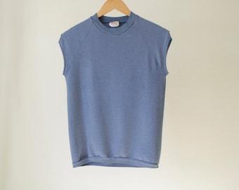 blue SURF vintage ocean pacific sleeveless TANK top sweatshirt