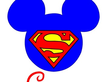Custom Personalized Mickey Superman Iron on Transfer Decal(iron on transfer, not digital download) Disney Iron on Decal Super Hero DC