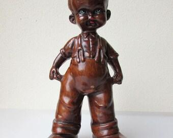 Italian Boy Figurine, Vintage statue Boy