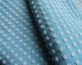 "DOWNSIZING SHOP SALE...Morgan Jones Robin's Egg Blue With White Popcorn Chenille Bedspread Fabric Piece...18 x 24"""