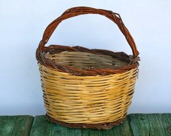 Italian vintage wicker basket