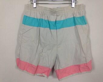 90s pastel pink / blue shorts size M
