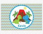 Dinosaur Placemat - Personalized Dinosaur Placemat for Boys - Dinosaur Double Sided Laminated Placemat for Kids