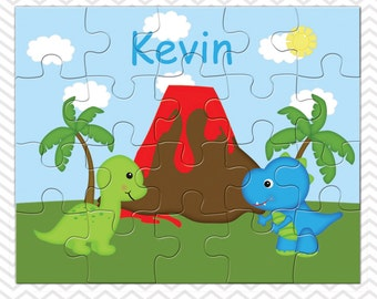 Dinosaur Personalized Puzzle, Personalized Dinosuar Puzzle, Personalized Kids Puzzle