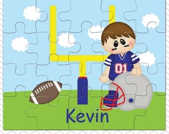 Football Personalized Puzzle, Personalized Football Puzzle, Personalized Kids Puzzle