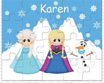 Princess Frozen Personalized Puzzle, Personalized Princess Puzzle, Personalized Kids Puzzle