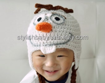 Olaf Hat, Snowman Hat, Olaf the Snowman Hat, Snowman Baby Hat, Baby Hat, Inspired by Frozen