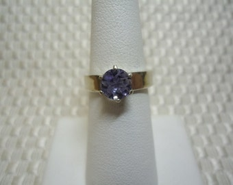 Round Cut Iolite Ring in Sterling Silver   #1635