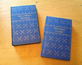 vintage treasure island gulliver's travels classic books England