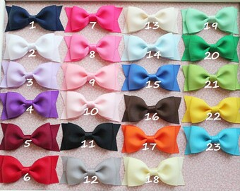Girls hair bows - set of 16 - toddler, little girls hair bows - Tuxedo hair bows -  Birthday gift - 1.00 hair bows  - You can choose colors