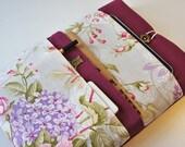 Rose Custom laptop cover, 12 Macbook case, 17 inch custom cover, 13 inch Macbook Sleeve, Laptop bag, 11 inch macbook case, 4 front pockets