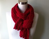 Long Red Scarf .. Valentines Day .. Crochet Scarf .. Red Scarf .. Soft Scarf .. Trending Winter Scarf .. Long Red Scarf .. Chunky Scarf