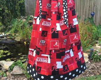 Boutique Pillowcase Dress Featuring Alabama Crimson Tide :TD052