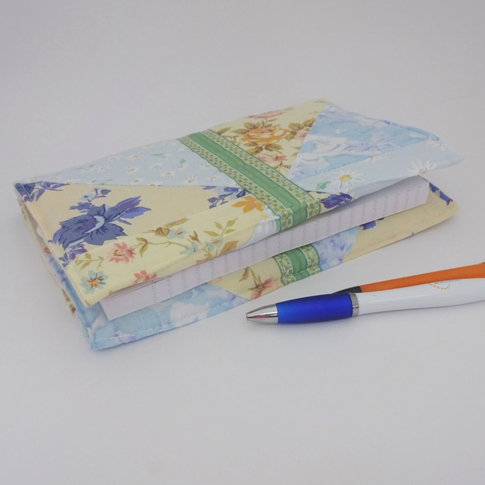 How To Make A Reusable Book Cover : Fabric covered notebook reusable book cover
