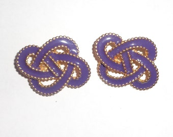 Chunky purple entwined gold shoe clips*
