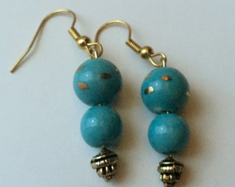 Fine China Turquoise Earrings