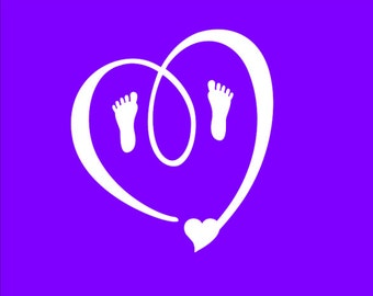 Heart With Baby Feet SVG File Instant Download Cutting Machine File Baby Feet Svg Maternity svg Pregnancy svg Pitter Patter svg